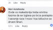 """vakvi pobesneti kurvista treba odma na triupci stavanje I sonoz za kremenadli secenje...""-Говор на омраза поради пол и род во коментари на Фејсбук."