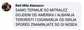 Само тепање со митролез,дојдени од Америка и Албанија терористи и циганарија од Сирија според знамињата што ги носеа