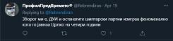 Говор на омраза на твитер кон албанското население и членовите на албанаските политички партии во РСМ.